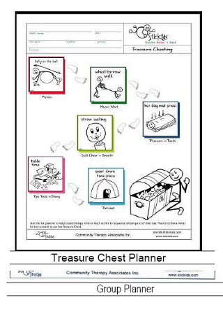 Treasure Chest - a 6-activity sequence planner, which quickly helps   children regulate before doing challenging events.